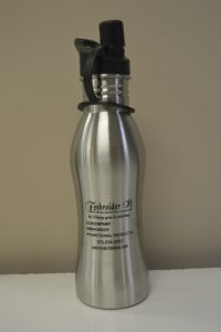 Screen Printing water bottle Promotional Products created by Embroider It in Columbia MO.