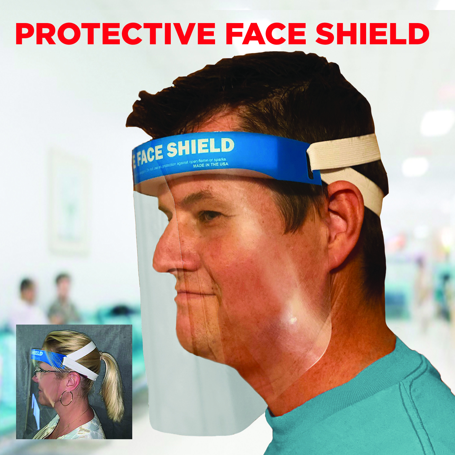 3635 Protective Face Shield Made in USA FDA Embroider It Columbia Missouri PPE Personal Protective Equipment