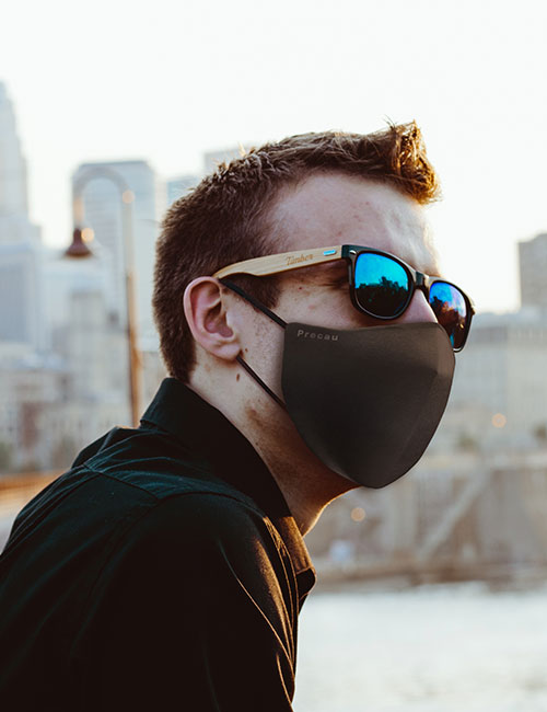 M2001 DWR FACE MASK PRECAU ADULT UNISEX FACEMASK Embroider It Columbia MIssouri PPE Personal Protective Equipment