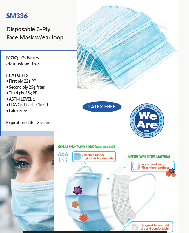 SM336 Disposable Mask COVID-19 Protection from Embroider It in Columbia Missouri